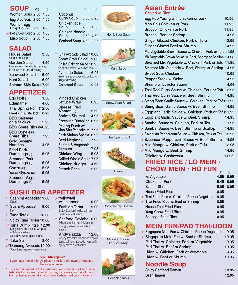 Arman info for Asian cuisine tulsa menu